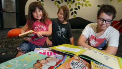 Photo of Authors and illustrators share the magical world of books with Ipswich children